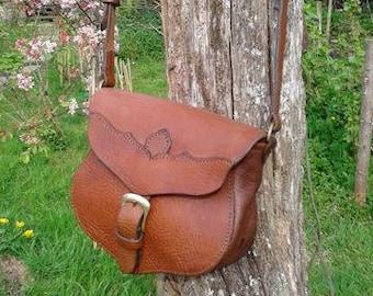 Pollyanna  Hand Stitched Leather Saddlebag