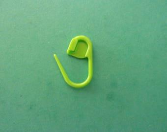 "Mini brand-mesh plastic green ""Neon"" - 22 mm"