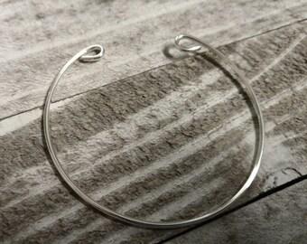 Wire Cuff Bracelet Blank Bangle Bracelet Blank Silver Cuff Bracelet Silver Plated Blank Bracelet
