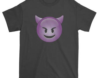 Color Emoticon - Happy Devil Face Smile Mens T-shirt