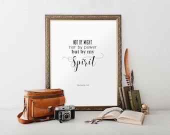 Calligraphy print, Bible verse wall art, Art print, Bible prints, Bible printable, Bible sign, Bible verse print, Scripture, Zechariah, 1081