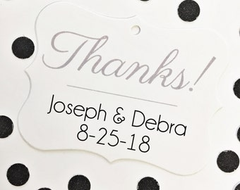 Thank You Tags, Wedding Thank You Tags, Wedding Favor Tags  (EC-041)