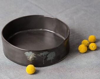 Ceramic Bowl Black Mismatched Bowls Serving Bowl Baking Dish Bowls Serving Tray Kitchen Decor Ceramic Bowls Home Decor Gifts Ceramic Art