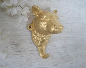 Cast Iron Bear Hook, Wall Hook, coat Hook, Animal Hook, key hook, Farmhouse Decor