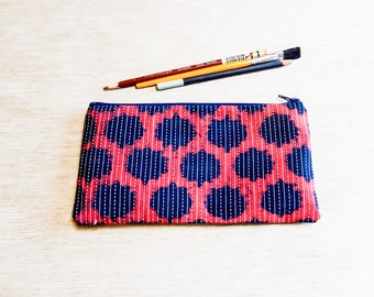 Pencil Case, Kantha Pencil Pouch, Make Up Bag, Pouch, Coin Purse, Gift for Her, Girlfriend Gift, Teen Gift, Sister Gift, Birthday Gift, Case