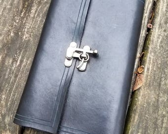 Leather Hand Bound Journal with Tea Stained Pages