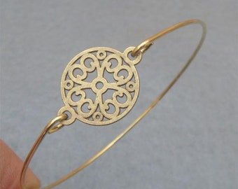 Flower Bangle Bracelet Style 17