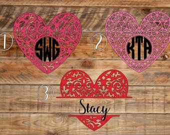Heart Monogram Decal