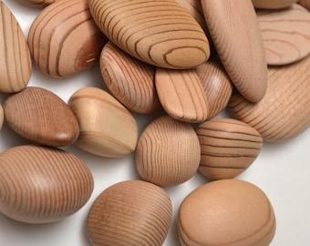 Wood Pebbles: Natural Cedar