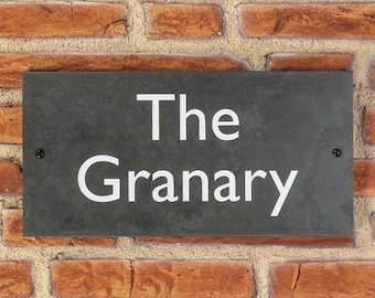 Personalised Slate / House Sign / Plaque / Door / Number / Gate / 300mm x 150mm