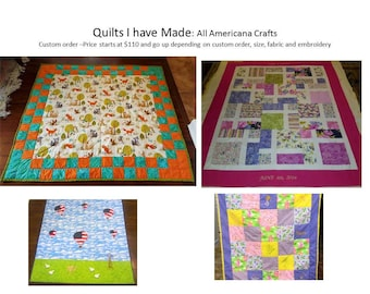 Custom Quilts, Art Quilts, Baby Quilts, Nursery Quilt, Baby Bedding, Quilt Gift, Toddler Quilt, Custom Baby Quilt