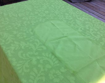 Vintage Bright Green Lime Green Oblong Tablecloth