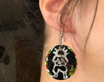 Handhala earrings handmade Palestinian character