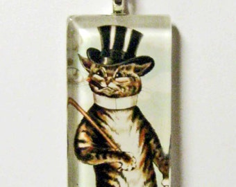 Be Home Late cat pendant and chain - CGP02-056 - cat pendant