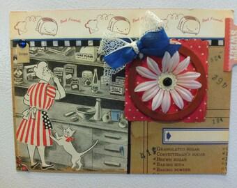 Vintage Kitchen Ingredients Magnet Refrigerator Locker