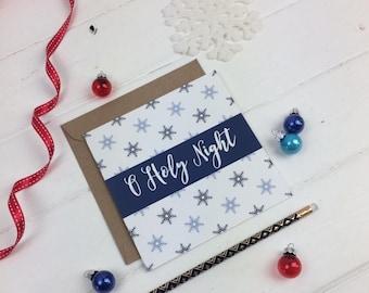 O Holy Night Christmas Card - Christmas Card Sets -  Christian card - Christian Gifts UK