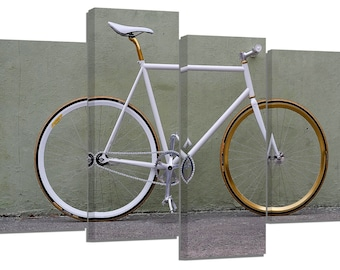 Bicycle/ photography / set of 4 canvas prints /32x20