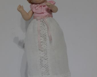 Dolls House Doll BABY 10 - OOAK Handmade 1/12 scale Porcelain Girl Doll