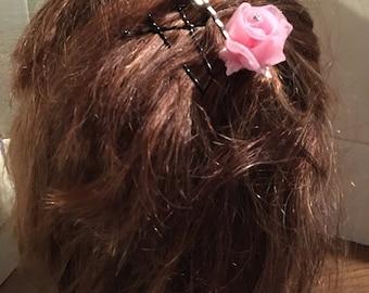 Floral hair bobby pins (2)