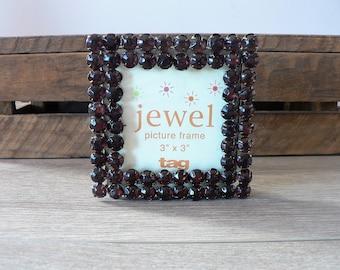 3 x 3 Purple Amethyst Jewel Photo Frame