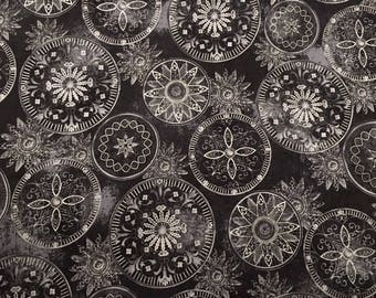 SALE - Hoffman black and silver celestial - 2 yards