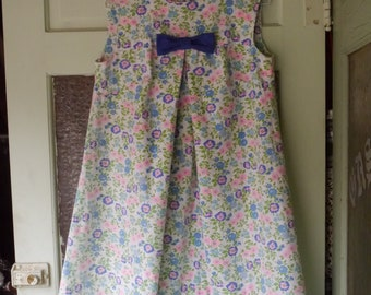 Mod 60s Groovy Floral Baby Doll Dress