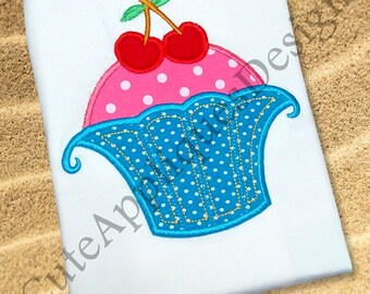 Cupcake and Cherry Embroidery deisgn No 1129