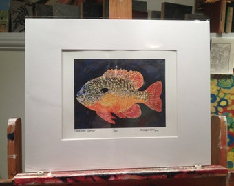 "11x14"" Long Ear Sunfish print by Jonathan Marquardt of BadAxeDesign"
