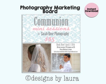 Communion Mini Session Template/Ad/Flyer/ Photographer Marketing Ad/Communion Ad/Photoshop Template