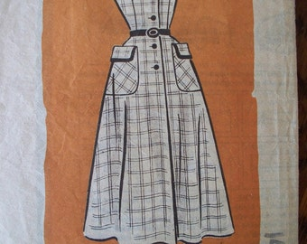 Antique  Misses pattern by Marian Martin  Dress Size 14 1954 - FREE SHIPPING on all patterns when you buy 3 or more - Vintage