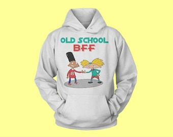 Hey Arnold   Gerald & Arnold old school BFF's  cotton Hoodie