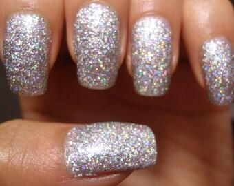 Silver Sand Holographic Glitter Polish
