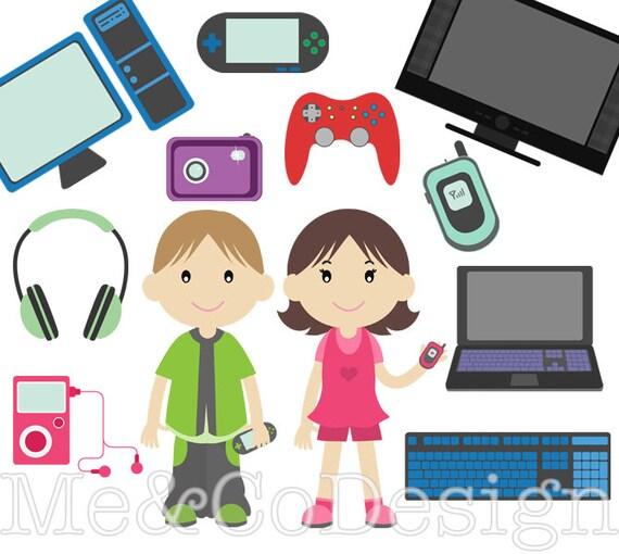 Techno Kids Clipart Fun Tech Clipart Accessory Clipart
