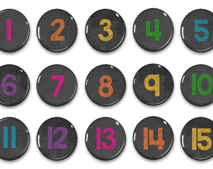 Christmas sale Colored Chalkboard Calendar Number Magnets - Counting Practice - Early Math - Educational - Preschool Learning - Classroom -