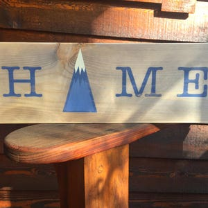 Home Is In The Mountains Sign, Home Sign, Rustic Home Sign, Mountain Home