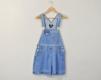 90s Denim Shortalls, Overall Shorts, Vintage 90s Shortalls, Denim Oneise, Denim Shorts, Jean Shorts, Jean Shortalls, Denim Dunagrees