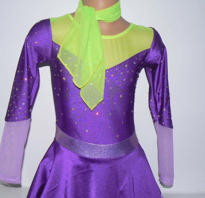 Daphne de Scooby-Doo inspirado Vestido de patinaje. Niños