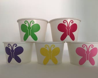 Butterfly Party Snack Cups, Butterfly Party, Butterfly Birthday Party, Bug Party Cups, Insect Party Cups