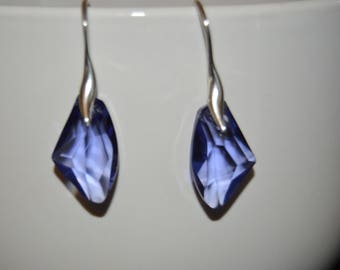 Swarovski 19mm Amethyst Galactic Pendant Earrings