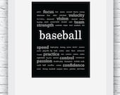 Baseball Words Wall Art P...