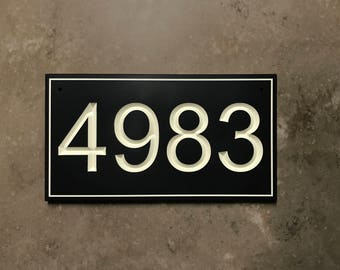 Classic Engraved House Number Sign