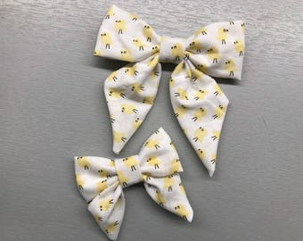 Easter Chicks/Chicken/Ducking Sailor bow clip/headband