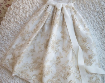 Elegant White Lace Baby Dress - Christening Gown, Girls Christening Gown, Baptism Dress