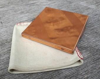 Vintage copper compact