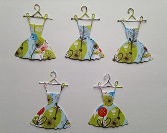 lot 5 cuts dresses cut decorative die cut embellishment scrapbooking