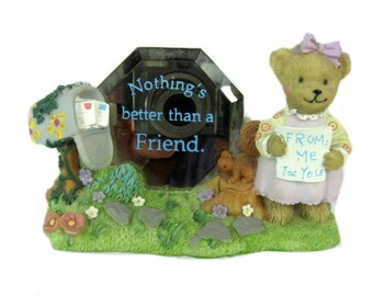 Nothing's Better Than A Friend, Teddy Bear Figurine, Best Friend Gift
