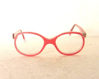Pink Round Eyeglasses 80's Germany Small XS FREE SHIPPING New Old Stock Girl Women Her Lady Eye Glasses 1980's Children Kids