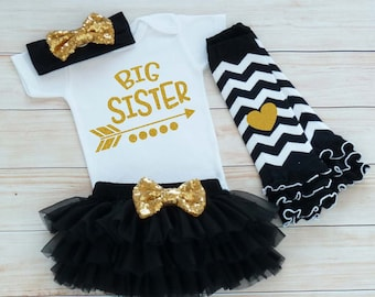 Baby Sister Outfit, Big Sister Bodysuit, Big Sister Baby Outfit, Baby Girl Gift, Big Sister Shirt, Baby Tutu Outfit, Big Sister, Sister Gift
