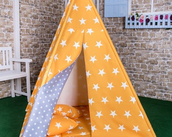 Play tent Goggly asterisk yellow complete set