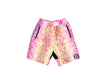 Rad 80s Neon OP Tech Professional Grade Surf Board Shorts - 28 to 32